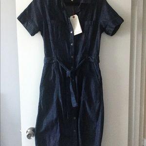 Denim midi dress by Current/Elliott